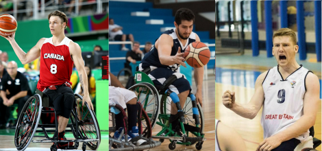 U23 Wheelchair Basketball players