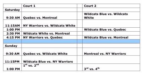 wr schedule